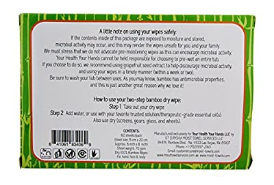 All Natural Multi-Purpose Dry Bamboo Wipes