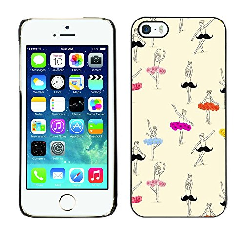 Ballerino di danza classica ballerina arte disegno - Aluminum Metal & plastica dura Phone caso - nero - iPhone 5 / 5S