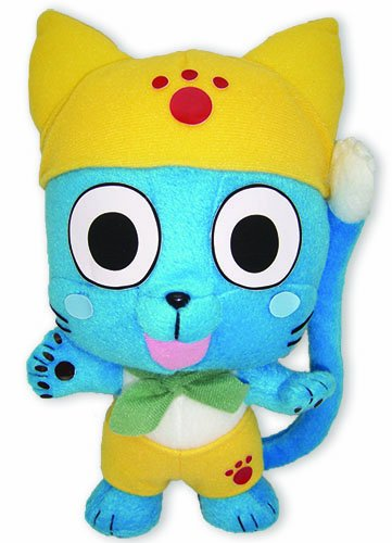Great Eastern GE52542 Fairy Tail Anime 9″ Happy In Yellow Plush Doll image