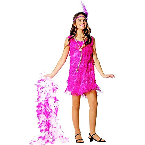 20s Pink Flapper Kids Costume