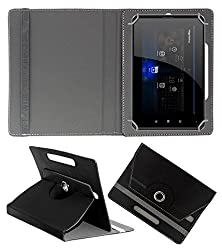 Acm Rotating 360° Leather Flip Case For Swipe Halo Edge Tablet Stand Cover Holder Black