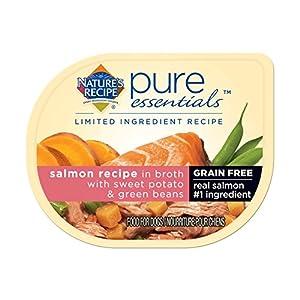 Nature's Recipe Pure Essentials Grain Free Salmon Recipe in Broth (24 Pack), 2.75 oz