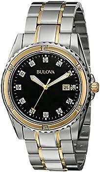 Bulova Men's Diamond Analog Japanese Quartz Watch