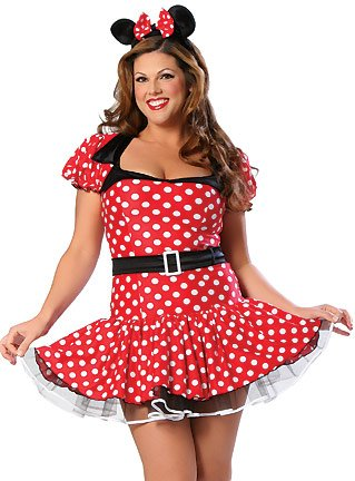 Plus Size Sexy Minnie Mouse Costume