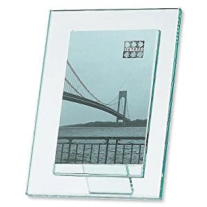 Amazon.com: Sixtrees Beveled Glass Photo Frame, For 5in.x...