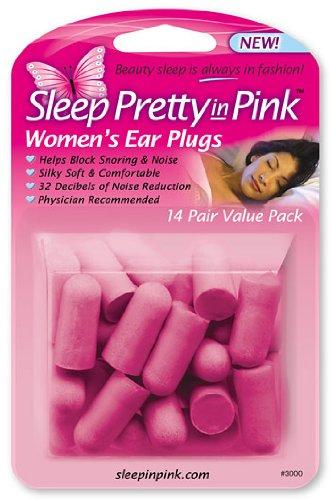 Sleep Pretty In Pink Women'S Ear Plugs, 14-Pair (Pack Of 3)
