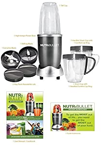 Nutribullet Red 8-Piece Set with Bonus NutriBlast Superboost Powder from High Street TV
