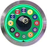 Neonetics 8BLDBG BILLIARD BALL GREEN NEON CLOCK