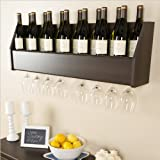 Prepac Floating Wine Rack, Espresso