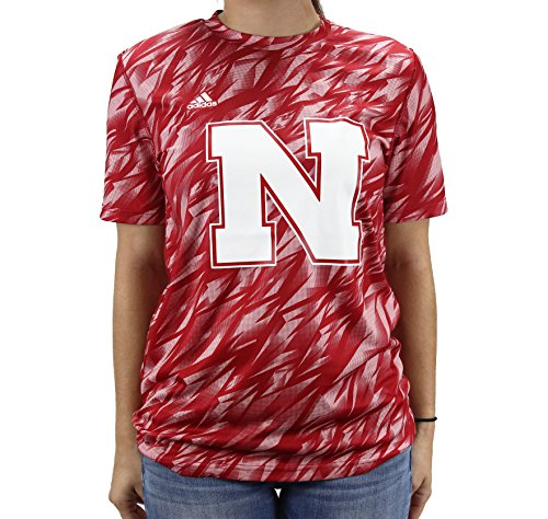 Adidas Climaalite Girls Nebraska Cornhuskers Short Sleeve Shirt