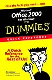 Microsoft Office 2000 for Windows For Dummies: Quick Reference (0764504533) by Lowe, Doug