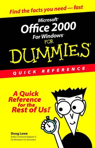 Microsoft Office 2000 For Windows For Dummies: Quick Reference front-903680