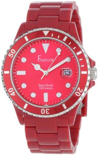 Freelook Women's HA1438-3 Sea Diver Red Watch