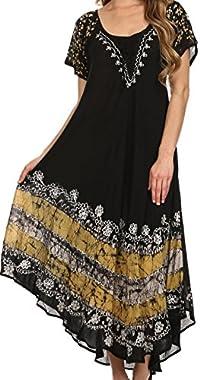 Sakkas Sara Batik CaftanTank Dress / Cover Up