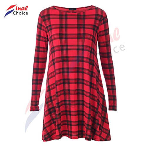 think-louder-womens-red-green-tartan-check-print-long-sleeve-swing-skater-dress-plus-size8-24-l-red-