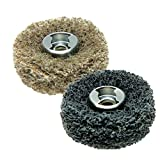 Dremel 511E EZ Lock Coarse Grit and Medium Grit Finishing Abrasive Buffs, 2-Pack