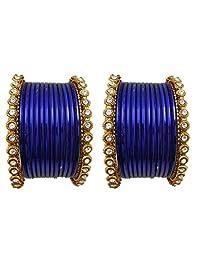 Bridal Chura Blue Wedding Bangles Chuda By My Design