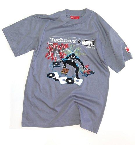 DMC Technics Marvel Spidey DJ Mens T-Shirt Grey Tm9Gm Medium
