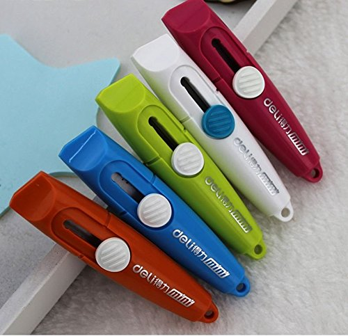 paper cutter knife Fashion Portable Office to Learn Tailoring Supplies Useful Stationery Knife Stainless Steel Paper Cutter 5 Color Art Knife paper cutter best seller (Butcher Paper Cutter 48 compare prices)