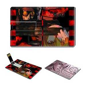 16GB USB Flash Drive USB 2.0 Memory Credit Card Size Anime Hellsing Comic Game Customized Support Services Ready Victoria Seras 006