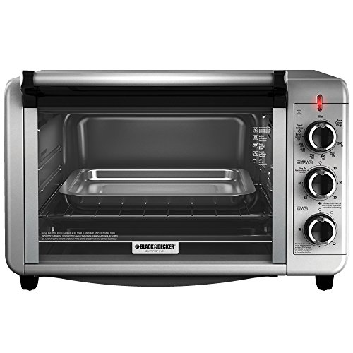 Black and decker to3210ssd countertop convection toaster for Horno electrico black decker