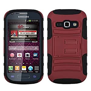 MyBat ASMYNA Advanced Armor Stand Protector Cover for Samsung M840 Galaxy Prevail 2 - Retail Packaging - Red/Black