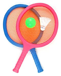 Buy Badminton Set for Kids with 2 Rackets, Ball and Birdie by Sports Toy