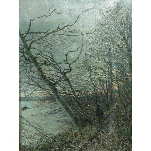 Pintura a óleo: Le Bois des Roches-Veneux-Nadon: Alfred Sisley Mão-Pain