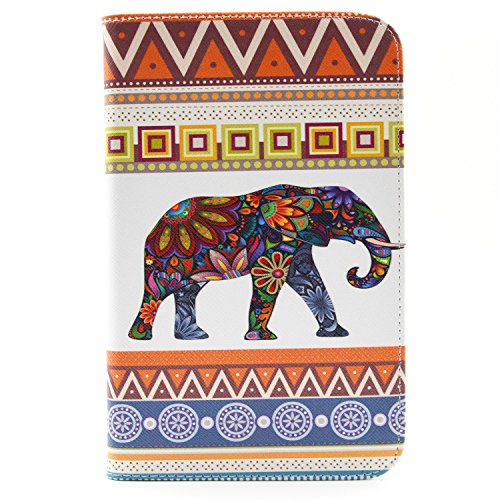 Click to buy Galaxy Tab 3 Lite 7.0 Case, New Colorful Premium Flip Folio Style Foldable Side [Card Slots] [Stand Function] PU Leather Wallet Case Cover Smart Skin For Samsung Galaxy Tab 3 7.0 Lite T110 T111 T113 T116, Come with one free Stylus -[Elephant Pattern] - From only $43.95