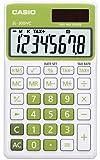 Casio SL-300NC-GN Taschenrechner in Trendfarbe, 8-stelliges Extra Big LC-Display, grün
