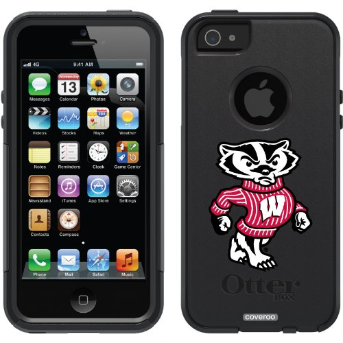 Great Price University of Wisconsin Mascot design on a Black OtterBox® Commuter Series® Case for iPhone 5s / 5