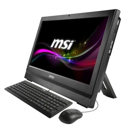 "MSI AP200-231X Ordinateur de bureau Tout-en-Un Tactile 20"" (50,80 cm) Noir (Intel Core i3, 4 Go de RAM, 500 Go, Intel HD 4400)"