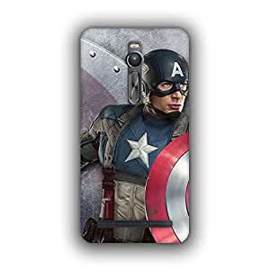 Caseque (Pro) Tero Captain America Back Cover For Asus Zenfone 2