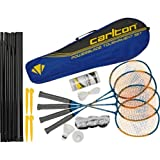 Carlton Powerblade Tournament 4-Person Badminton Set with Advanced heartrate Watch, Gym Bag & Sports Water Bottle