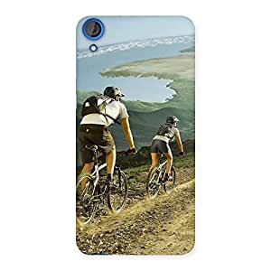 Mountain Bikers Back Case Cover for HTC Desire 820s