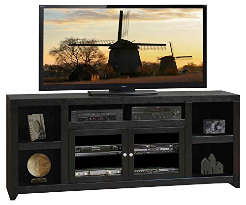85.06 in. Super TV Cabinet in Mocha Finish