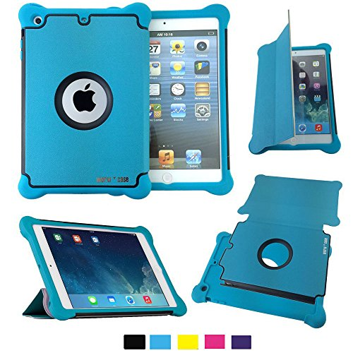 Worw Ipad Mini /Mini 2 Case - Prime Series Folio Leather Flip Smart Cover & Silicone Armor Shockproof Magnetic Case For Apple Ipad Mini 7.9 Inch Tablet - Built-In Book Shell Stand & Auto Wake/Sleep Function - Retail Package (Blue)
