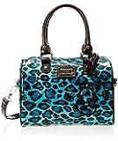 Hello Kitty Hk Leopard Embossed Mini City Top Handle Bag