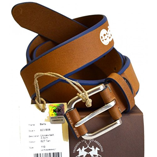 Cintura Pelle La Martina Uomo Men Belt Pelle 100% Leather Dark Brown 023B08 Size 110