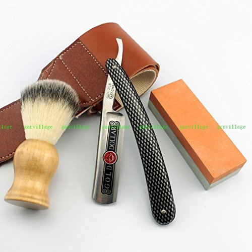 Straight Razor Strop And Stone Shaving , 400/1500# Stone + Nylon Brush + Strop (Razor Edge Sharpening Stone compare prices)