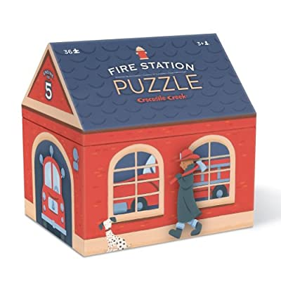 Crocodile Creek Fire Station House Shaped Box Puzzle