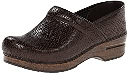 Dansko Women\'s Professional Mule, Brown Woven, 39 EU/8.5-9 M US