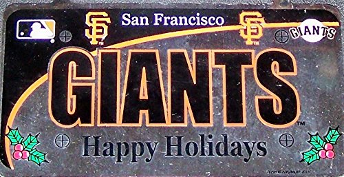 MLB San Francisco Giants Metal License Plate Ornament, Orange