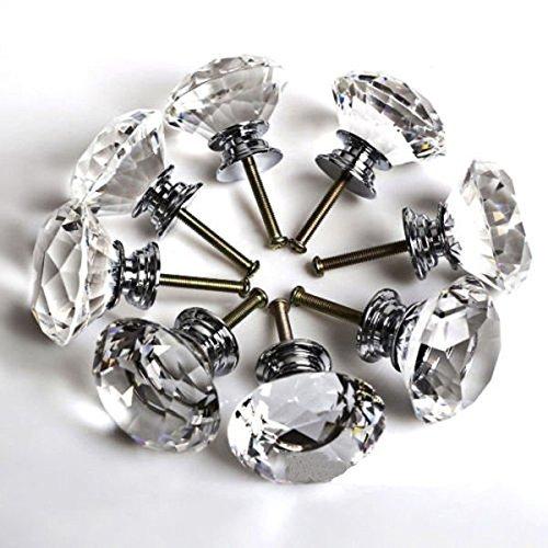 ZJchao(TM) 8pcs 40mm Schubladenschrank Glastürknöpfe Diamant-Kristallmöbel Küchen günstig kaufen