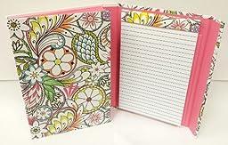 Hallmark Accordion File with Tablet - Multicolor Paisley w/ Pink Interior