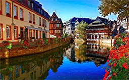 Strasbourg France River Canal Architecture 20X30 Inch Poster Print