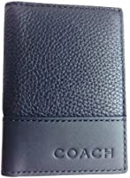 Coach Camden Pebbled Leather Slim Passcase ID Wallet Black