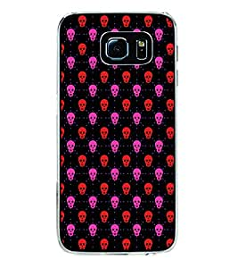 Colourful Skull Pattern 2D Hard Polycarbonate Designer Back Case Cover for Samsung Galaxy S6 Edge+ :: Samsung Galaxy S6 Edge Plus :: Samsung Galaxy S6 Edge+ G928G :: Samsung Galaxy S6 Edge+ G928F G928T G928A G928I