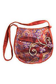 Rising Tide Felted Wool Printed Paisley Bag