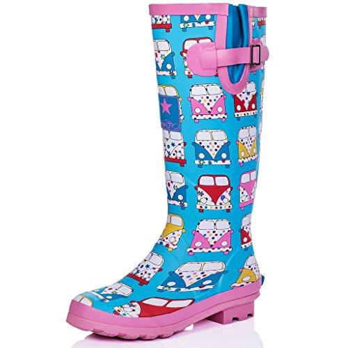SPYLOVEBUY IGLOO Flat Festival Wellies Wellington Rain Boots